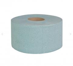 Туалетная бумага Джамбо, однослойная (зеленая) с