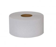 Туалетная бумага Джамбо двухслойная белая с