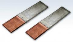 Plates transitional copper-aluminum