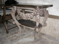 "Coffee table carved ""Gothic style"