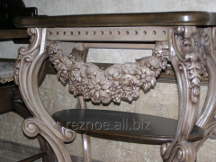 "Coffee-table carved ""Gothic style"