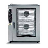Combi steamer with electronic control