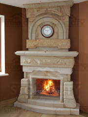Portals for Fireplaces from a natural stone, a