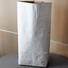 Paper bags with the upper white layer