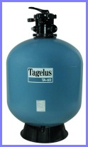 Filtering capacity of TAGELUS of THOSE 40, 480 mm,
