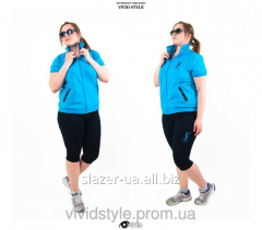 Fashionable female knitted sport wear of the big