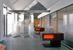 Folding partitions from glass