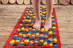 Детский массажный коврик с цветными камнями 150х40