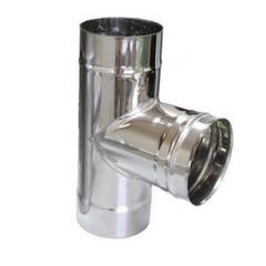 Stainless steel tee 87° f120 0.5 mm