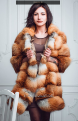 Fur coat from fox, code 35