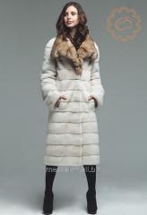 Fur coats from natural fur