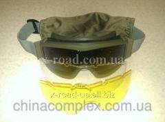 Тактическая маска с заменными стеклами-фильтр