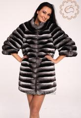 Fur coat from the silver fox, bespoke