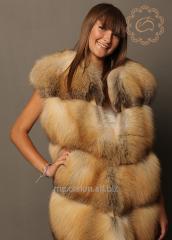 Vests from natural fur