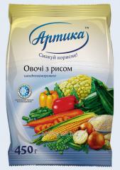 Овощи с рисом и грибами быстрозамороженные