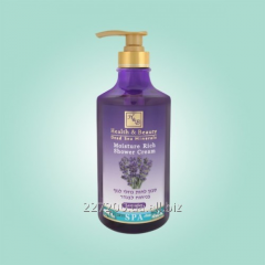 The moisturizing shower cream gel with a lavender
