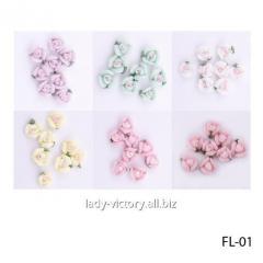 "Acrylic flowers of ""rosette""."