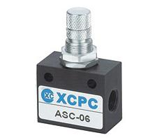 Pneumatic throttle with the ASC-06 backpressure