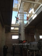 The dryer raspylitelny on production of powdered