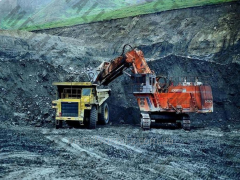 The mine equipment is mountain