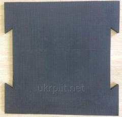 Antisplash rubber coverings and mats for animals