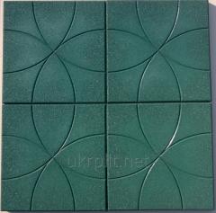Покрытия из резиновой крошки 500x500 мм, 25 мм