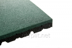 Floor coverings from a rubber crumb of 500x500 mm,