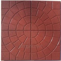 Резиновая плитка Узор 500х500 мм, 30 мм