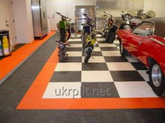 Rubber tiles floor for garage