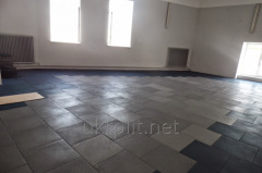 Tile rubber floor for car wash