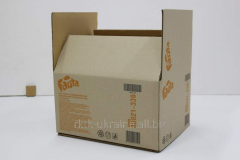 Packaging from five-layer cardboard