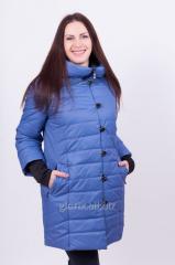 Женское демисезонное пальто прямого силуэта из