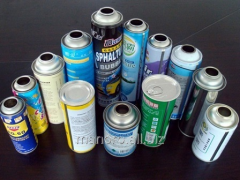 Line of production of aerosol cans