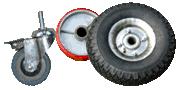 Колеса, колесные опоры, колеса для тележек и тачек