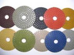 Diamond grinding wheels for a stone.