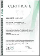 Certification of systems of management