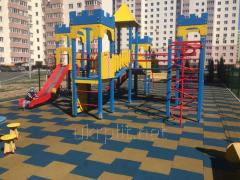 Pезиновое покрытие для детских площадок толщиной