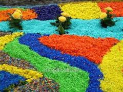 Резиновая крошка ЕПДМ цветная декоративная