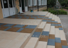 Travmobezpasny rubber tile for schools
