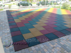 Rubber tile of Travmobezpasnaya for a playground