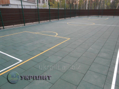 Travmobezpasny rubber tile Universal sports...