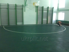 Safety rubber tile for sports activities