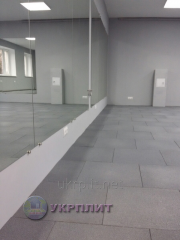 Travmobezpasny rubber tile for fitness...