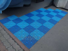 The covering anti-sliding floor for pools