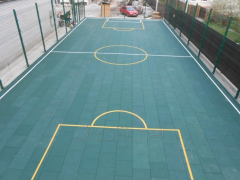 Floor covering for volleyball and badminton