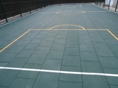 Floor covering for a tennis cour