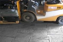Gumowa podłoga wykonana z czarnej gumy