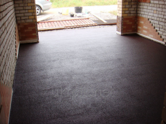 Rubber tile as a floor covering for warehouse