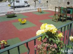 Резиновая плитка для террасы,  зоны отдыха