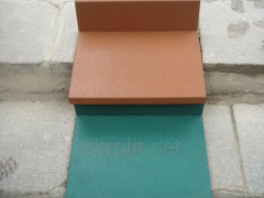 Rubber floor covering for shopping centers